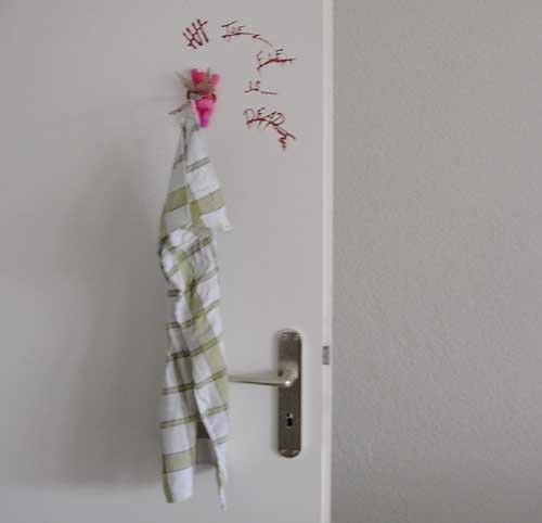 Morbider Handtuchhalter